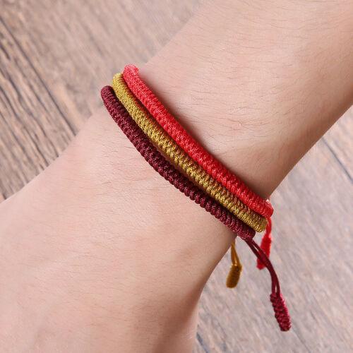 Adjustable Tibetan Buddhist Knots Lucky Rope Bracelet Buddhism Jewelry Hot Sale