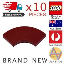 LEGO LOT 50 X TILE ROUND CORNER 2X2 MACARONI DARK RED REF 27925 *NEUF*