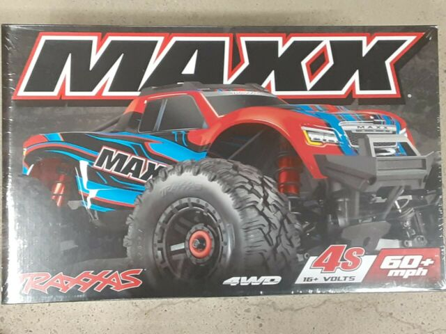 Traxxas Maxx RTR 4WD Brushless Monster Truck 1/10 Electric RedX 89076-4 New!!