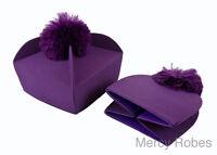 Traditional 4-winged Purple Biretta, Clergy Priest Hat, Catholic Vestment