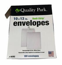 Quality Park Redi Strip Catalog Envelopes 10 X 13 White Wove 100box 44782
