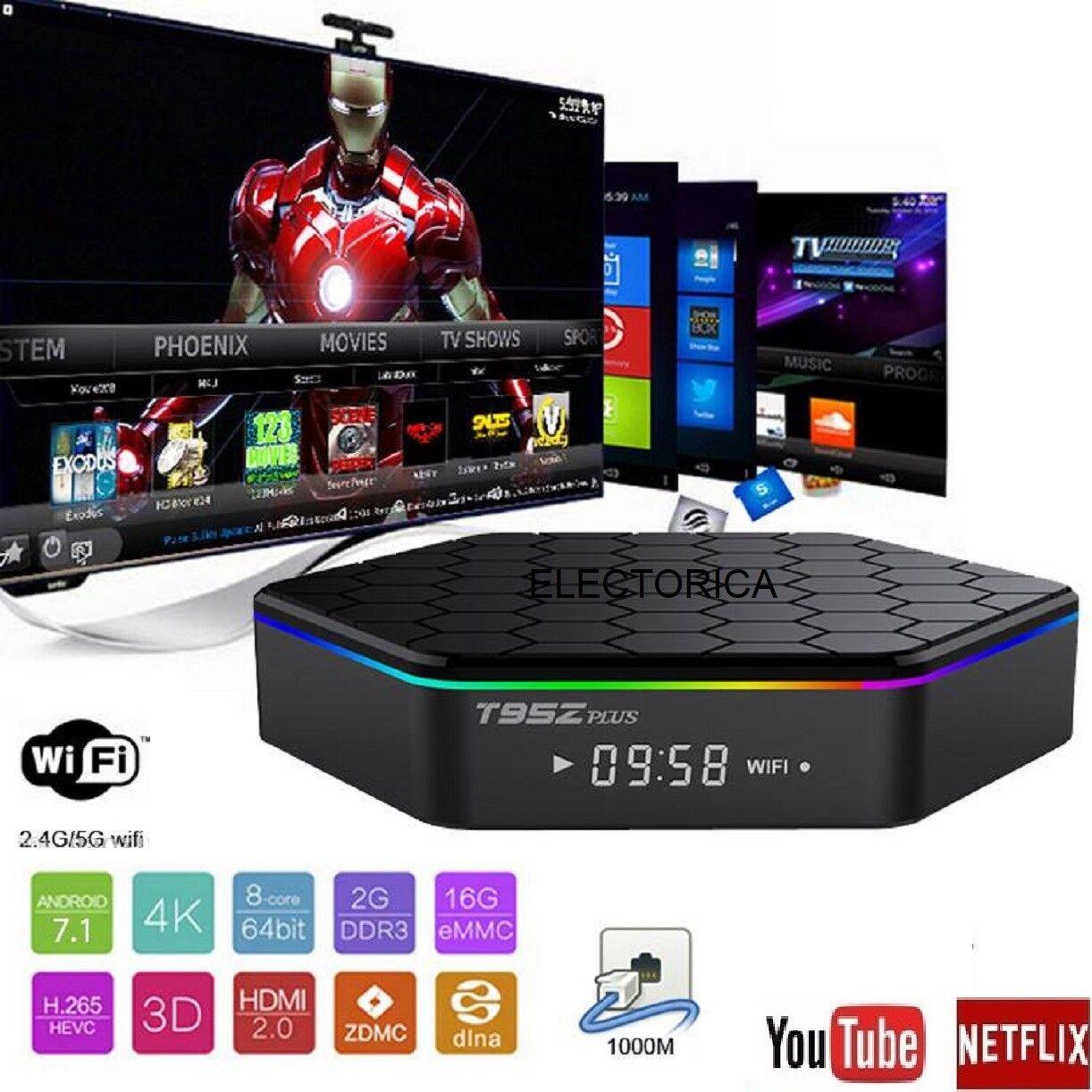 T95Z PLUS OCTO Core ANDROID TV BOX + KODI IPTV HD 4K SMART TV YOUTUBE NETFLIX