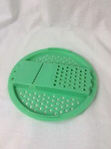 Vintage-Tupperware-Replacement-Cheese-Grater-Slicer-Strainer-Jadite-Green