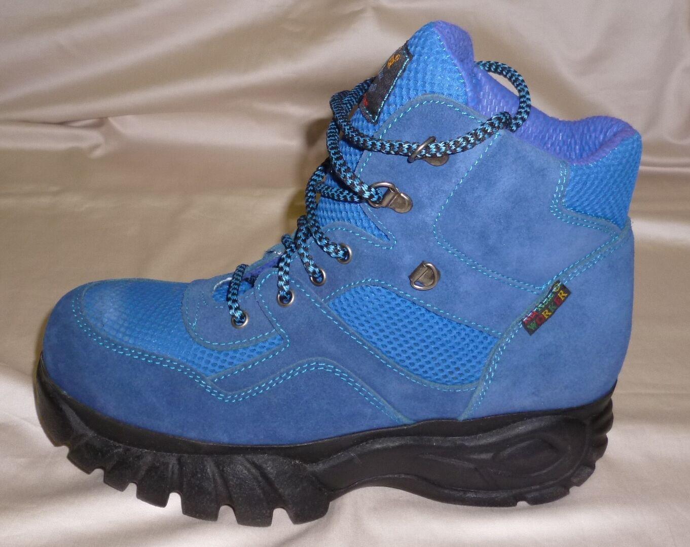Stiefel Trekking Freizeit  RAIL ROAD WORKER Nubukleder Schnürsenkel blau G.41 NEU