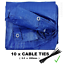 ALL Sizes Of Heavy Duty Tarpaulin Cover Ground Camping TARP Sheet CABLE TIES