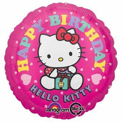 Multicolor 18 0251001 18 Anagram International Hello Kitty Happy Birthday Foil Balloon Pack
