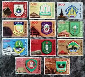 Indonesia-2008-Provincial-Architecture-Architectural-Heritage-stamps-11v-MNH