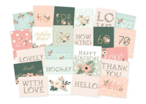 24 DEAREST 5x7 Pink Floral KaiserCraft K Style Bulk Greeting Card Box