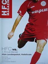 Programm Pokal 2002/03 HFC Hallescher FC - Lok Stendal