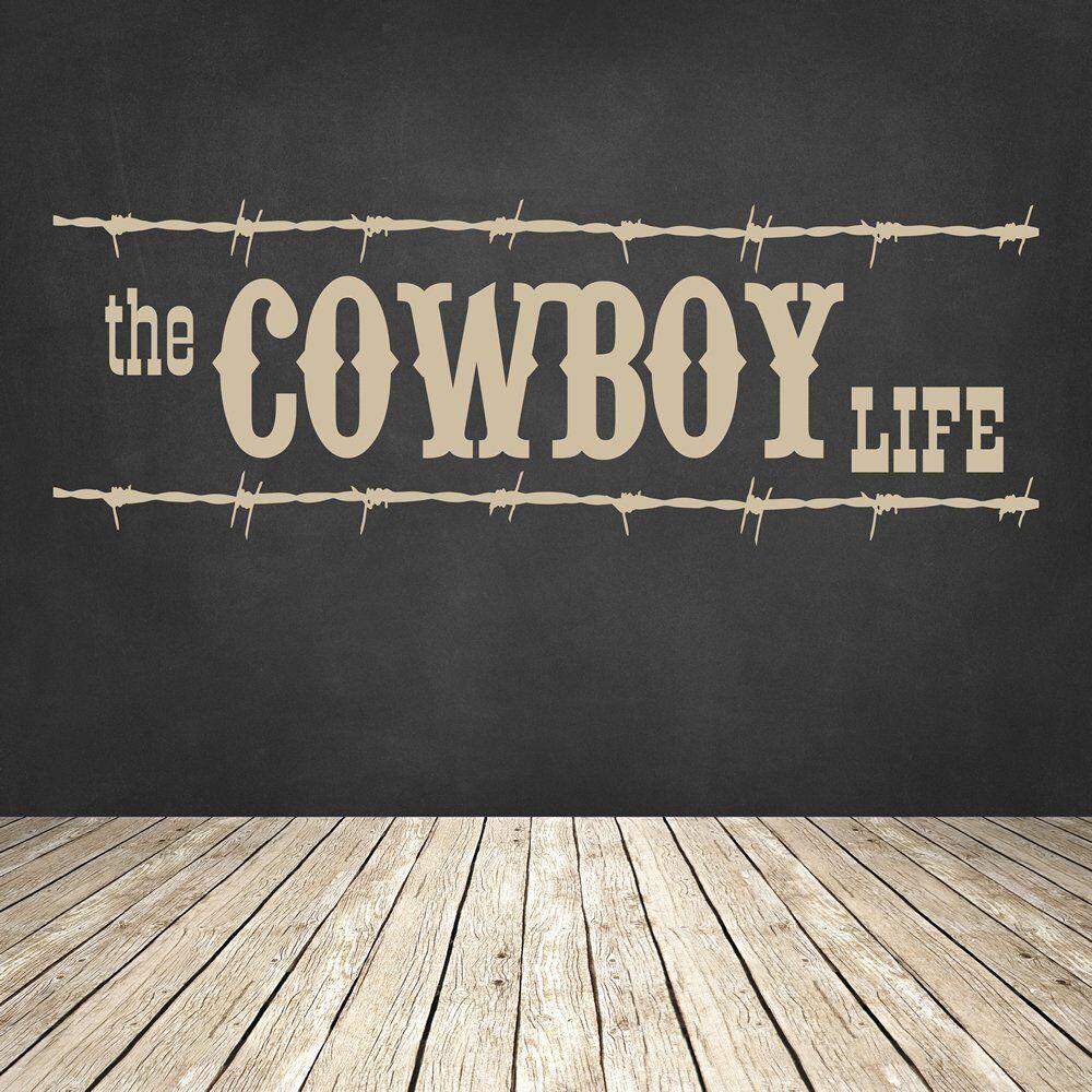 Cowboy-Leben Wandaufkleber Cowboy Wandtattoo Schlafzimmer Kinder Wohnkultur