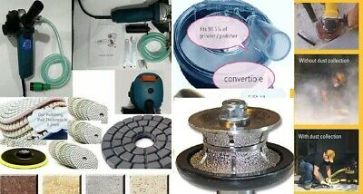 """Wet Polisher 1 1//4/"""" Full Bullnose Router Dust Shroud Pad Granite concrete marble"""