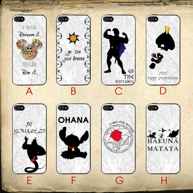 Childhood Disney Lessons Wise Quotes Marble Vibe For iPhone 4/4s Clip Case Cover