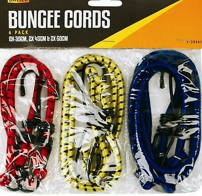 Bungee Strap Cords Set-Best for Car Luggage,Camping Elasticated Hooked Pack of 6