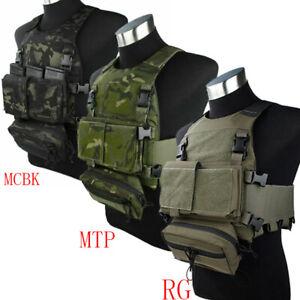 Modulaire TMC3171 Poitrine De Chasse Gilet à manches courtes poitrine Hang Set Multicam Tropic MC MTP