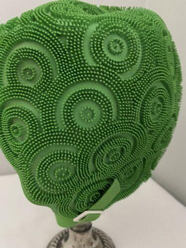 Swim Cap Vintage Kleinert's Green Textured Swirls