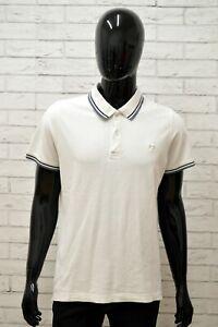 Polo-LOTTO-Uomo-Taglia-S-Maglia-Maglietta-Camicia-Shirt-Man-Manica-Corta-Bianco