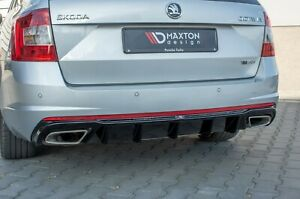 Diffusor Heckdiffusor für Skoda Octavia RS 5e Diesel ABS Heckansatz Glanz + Rohr