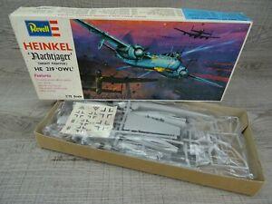Revell Heinkel HE 219 Owl Vintage 1969 Model Kit 1:72 Scale Aircraft Plane