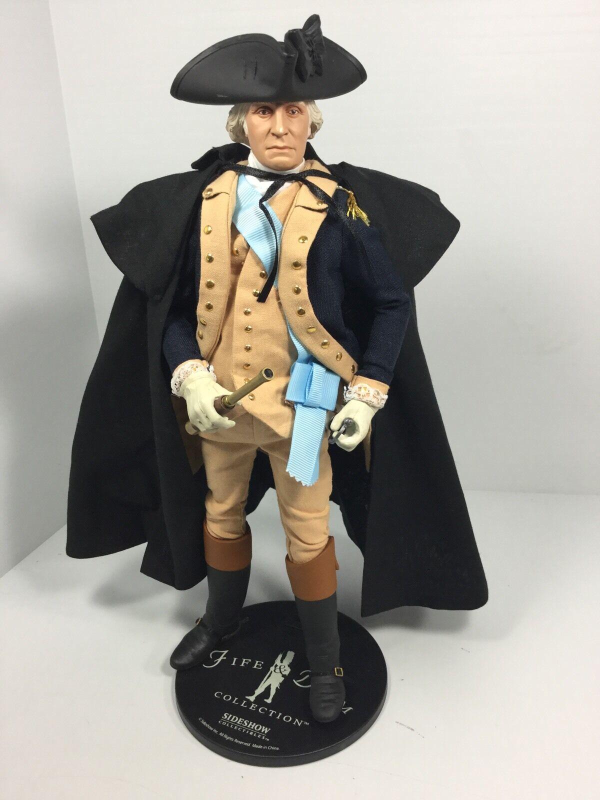 1/6 SIDESHOW GEN GEORGE WASHINGTON + STAND & SWORD REVOLUTIONARY WAR DRAGON BBI