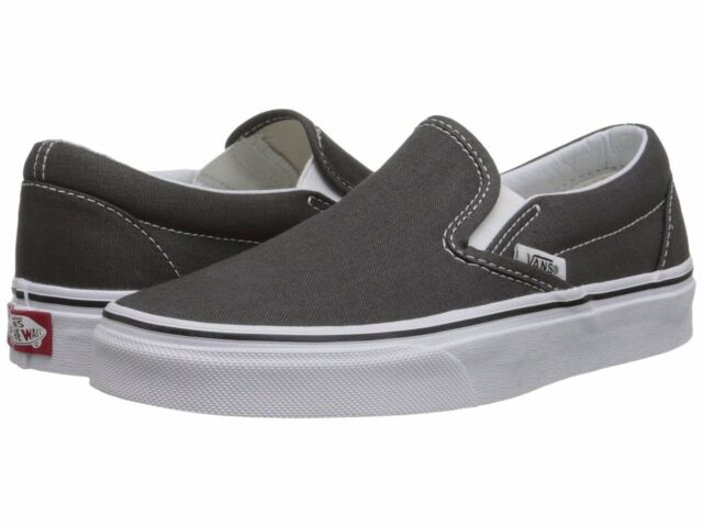 3e95aff613e3a7 Men s Vans Classic Slip on Charcoal Fashion Sneakers Canvas Shoes  VN-0EYECHR NIB