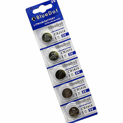 5-Pack CR1216 1216 Battery Key Fob Remote