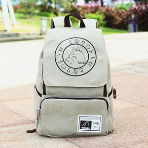 Image is loading My-Neighbor-Totoro-Canvas-Travelling-Backpack -Shoulder-School- b4cd408a44