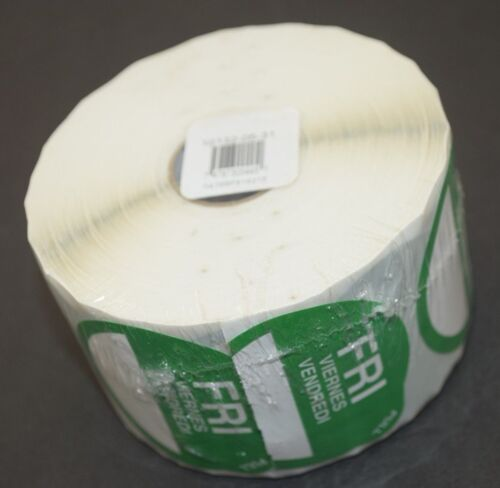 """DayDots FRIDAY Labels ROLL of 750-2/"""" Round Expiration SupeRemovable Peel E-Z"""