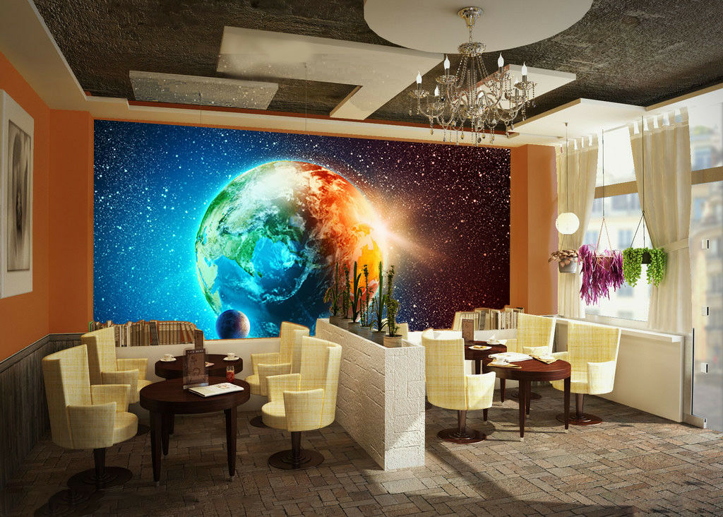 3D Bright Earth 827 Wallpaper Mural Paper Wall Print Wallpaper Murals UK Lemon