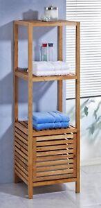 Details zu Regal mit Schrank Badezimmer Sauna Badezimmerschrank Walnuss  Holz Stauraum