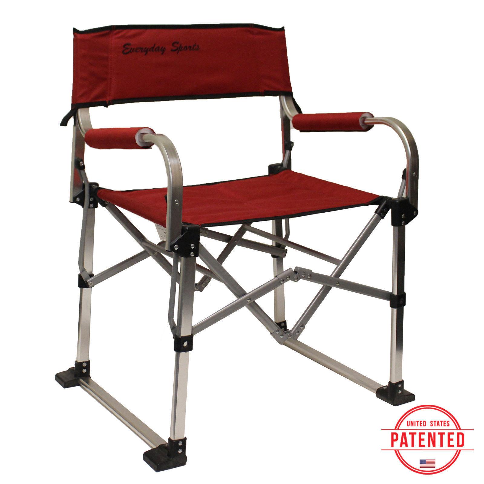 Durable Aluminum Lightweight Folding Outdoor Director Camping Beach Chair