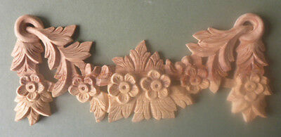 Pine Hand Carved Wooden Shell Applique #341