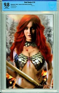 Red Sonja #19 Comics Elite Piper Rudich Virgin Exclusive - CBCS 9.8!
