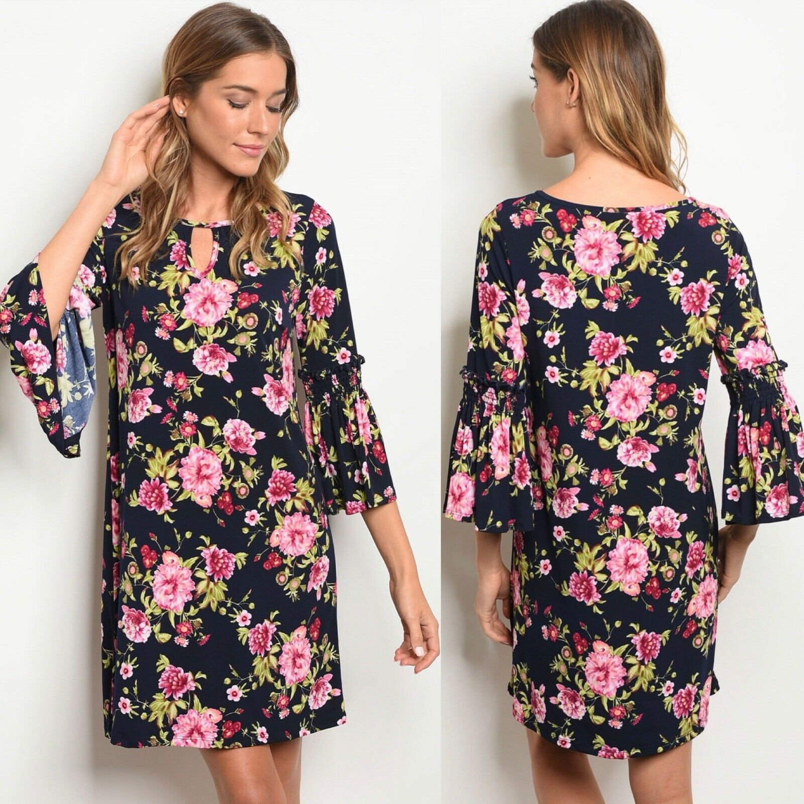 Last 1  NWT Small Women's Floral Dress Easter Dress Spring Dress Boutique