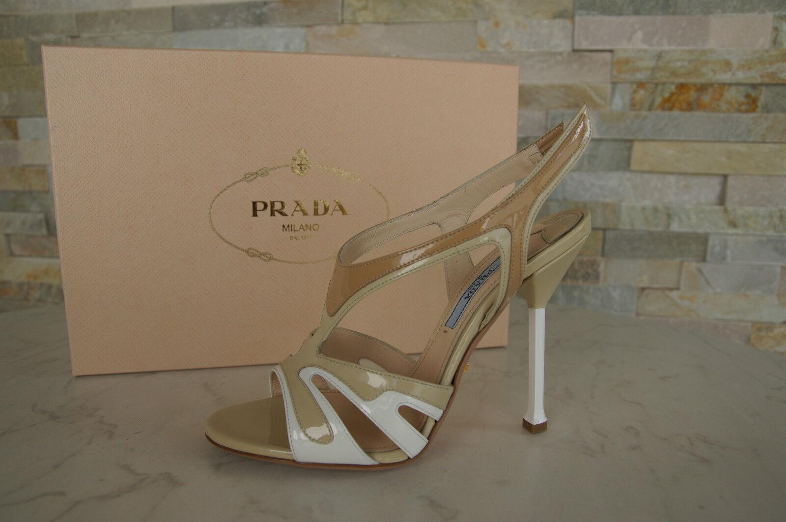 Prada sandalias sandals zapatos Shoes heels charol multicolor nuevo PVP