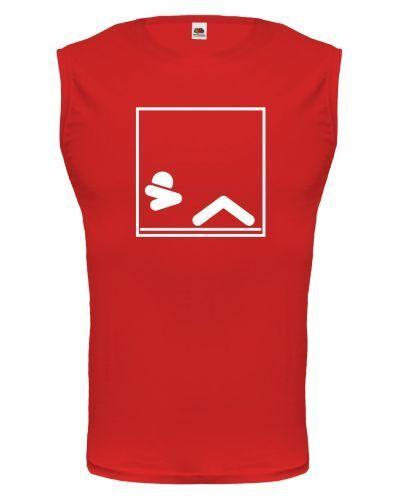 Muscle Shirt Débardeur Sans Manche Tank Top Sit-ups-pictogramme Abdos Fitness Force Sport