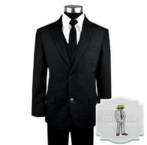 Kids Formal Wear Black Suit And Tie Includes Suit Tie Shirt Vest
