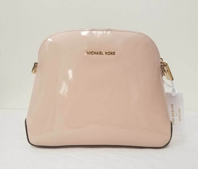 46aec5a40a6c Michael Kors Ballet Patent Leather Studio Mercer Medium Dome Messenger Bag