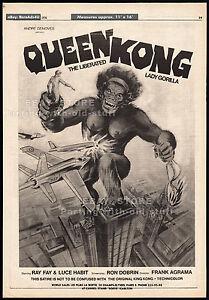 QUEEN-KONG-Original-1976-Trade-AD-promo-poster-FRANK-AGRAMA-Robin-Askwith