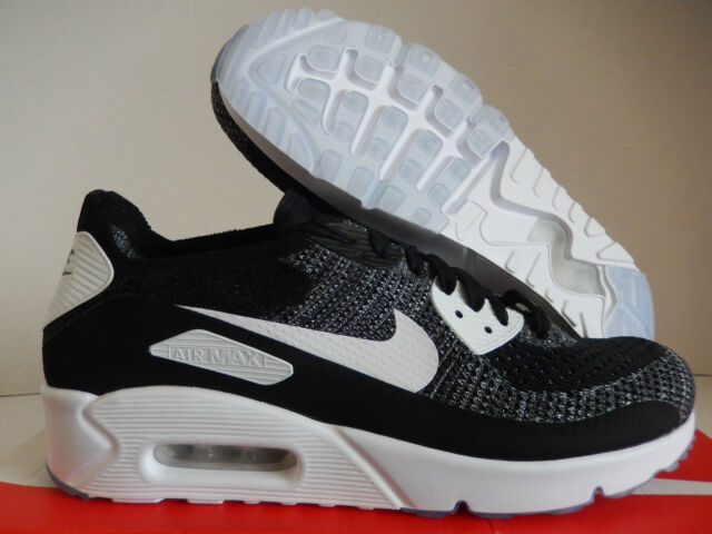 buy popular f6105 4040b NIKE AIR MAX 90 ULTRA 2.0 FLYKNIT ID BLACK-WHITE-SILVER SZ 10.5