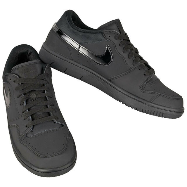 7496aab65 Nike Court Force Low Black Leather Men s Trainers Shoes Dunk Air One ...