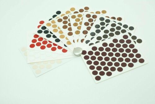 32 SCREW CAPS HOLE COVER HIGH GLOSS SELF ADHESIVE PVC STICK ON FURNITURE 18mm