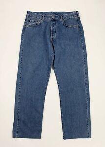 Replay-jeans-uomo-usato-gamba-dritta-W40-tg-54-denim-vintage-blu-boyfriend-T5739