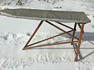 Details About Antique Wooden Ironing Board Rustic Primitive All Wood Nice Shape