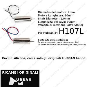 ORIGINALE HUBSAN DUE MOTORI H107L 7MM RICAMBI x4 H107L A03 MOTOR SET