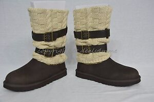 d089bf681d1 Details about NIB UGG Australia Boots Cassidee Tall Knit Boots Women's Size  7 Choclate Brown