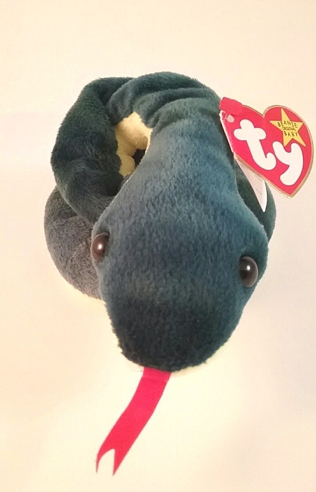 Ty Beanie Baby HISSY HISSY HISSY  the Snake Retired  with Tag Errors Collectible 1997 94dfc4