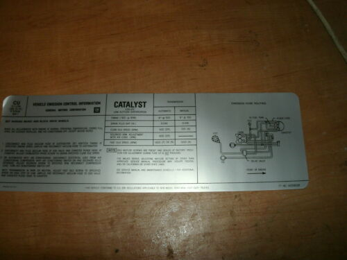 1979 CHEVROLET EL CAMINO CHEYENNE BLAZER TRUCKS 5.7L 350 EMISSIONS DECAL NEW