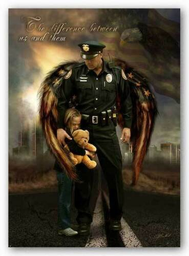 ART PRINT The Difference between us and them Police Officer Jason Bullard