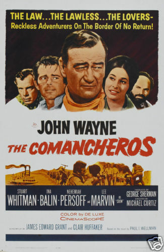 The Comancheros John Wayne vintage Movie poster print