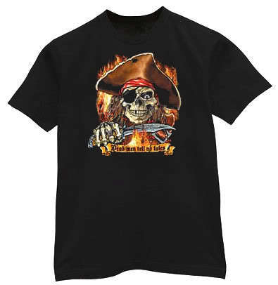 Dead Men Tell No Tales Funny Pirate Gothic T-shirt